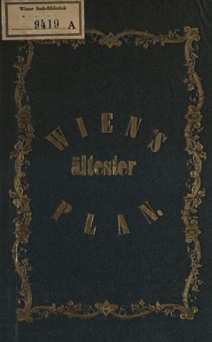 Wien's ältester Plan / von Georg Zappert