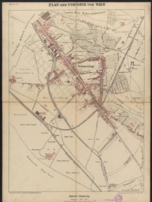Plan der Vororte von Wien