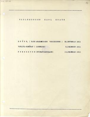 Vorlesungen Karl Kraus