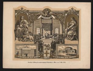 Feierliche Eröffnung des oesterreichischen Reichsraths in Wien am 1t. Mai 1861 : Zum Besten der Armen beim Beginne des Jahres 1862
