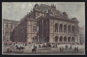 [Abbildung der Hofoper Wien um 1870]