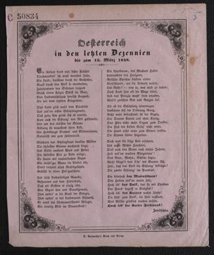 Oesterreich in den letzten Dezennien bis zum 13. März 1848 von Janitschka, Johann
