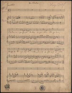 Scholar : No. 16 / Hugo Wolf. [Gedicht von Joseph von Eichendorff] von Joseph von Eichendorff