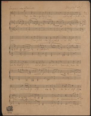 Tief im Herzen trag ich Pein : Lied f. Sgst. u. Pfte. / von Hugo Wolf von Hugo Wolf