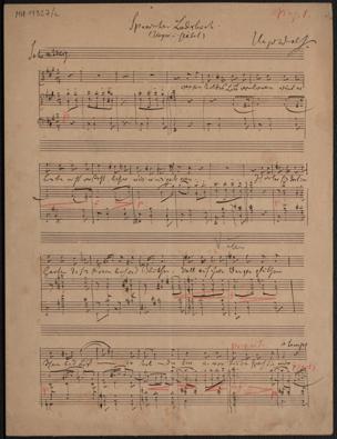 Spanisches Liederbuch / Hugo Wolf. (Heyse u. Geibel) von Hugo Wolf