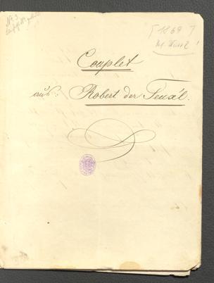 """Couplet aus """"Robert der Teuxel"""" / von Julius Hopp. [v. J. Nestroy] von Johann Nestroy"""