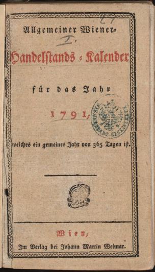 Allgemeiner Wiener Handelstands-Kalender für das Jahr ...