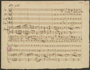Der Tanz : Manuscript v. Franz Schubert von Franz Schubert