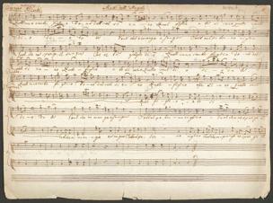 Sammelmanuskript fing. Titel von Franz Schubert