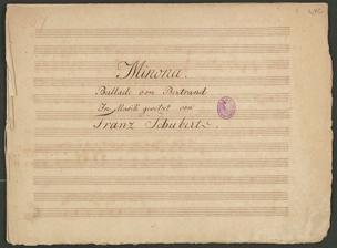 Minona. / Ballade von Bertrand / : In Musik gesetzt von / Franz Schubert. / Franz Schubert von Franz Schubert