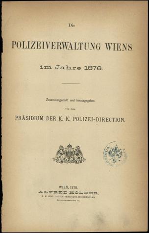 Polizeiverwaltung Wiens im Jahre...