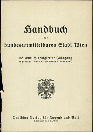 Handbuch der bundesunmittelbaren Stadt Wien