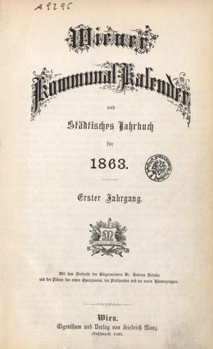 Wiener Kommunal-Kalender und städtisches Jahrbuch