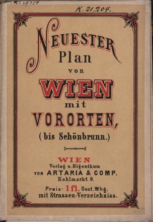 Straßen- und Nummern-Plan von Wien und Vororten von Köke, Friedrich