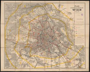 Plan der k. k. Reichshaupt- und Residenzstadt Wien : im Maße 1:25000
