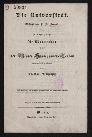 Universität von Frankl, Ludwig August