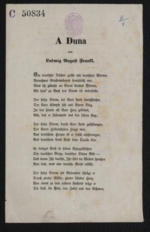 """A Duna : Am Bord des Schiffes """"Johann"""" am 9. April 1848 von Frankl, Ludwig August"""