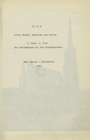 Wien, seine Häuser, Menschen und Kultur von Harrer-Lucienfeld, Paul
