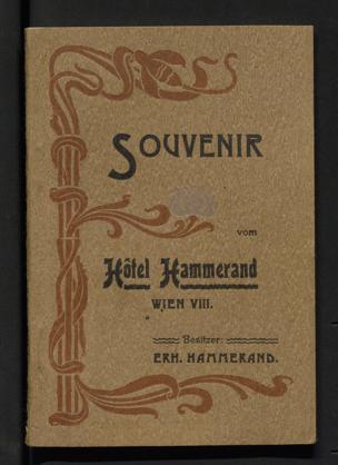 Souvenir vom Hôtel Hammerand Wien VIII