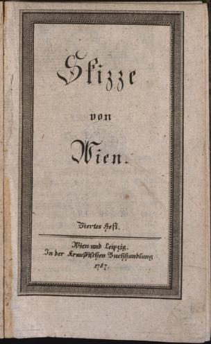 Skizze von Wien von Pezzl, Johann