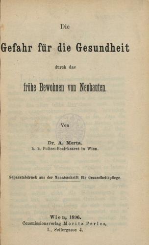 Gefahr für die Gesundheit durch das frühe Bewohnen von Neubauten von Merta, A. ()
