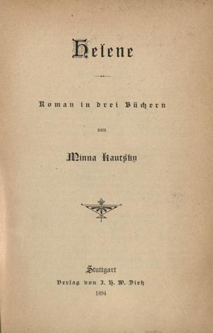 Helene : Roman in drei Büchern von Kautsky, Minna ()