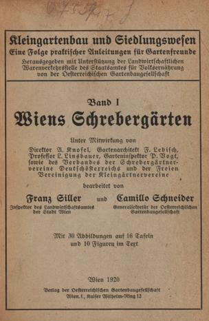 Wiens Schrebergärten von Siller, Franz ()