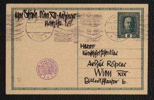 Korrespondenzkarte an Arthur Roessler von Schiele, Egon
