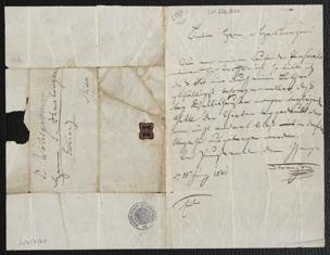 Brief an Karl Haslinger von Strauss, Johann