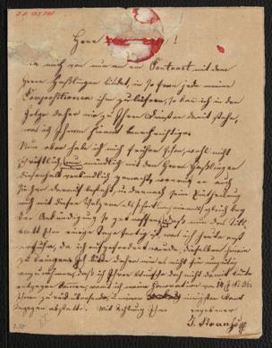 Brief an Anton Diabelli von Strauss, Johann