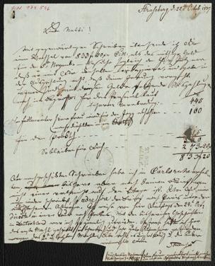 Brief an Anna Strauss von Strauss, Johann