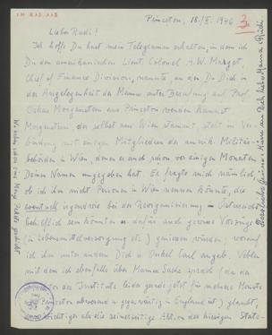 Brief an Rudolf Gödel von Gödel, Kurt