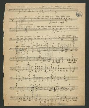 Übertrag des Erlkönig von Franz Schubert [D 328] : für Cello alleine, zum alleinigen Gebrauch für Heinrich Kiefer von Cossmann, Bernhard